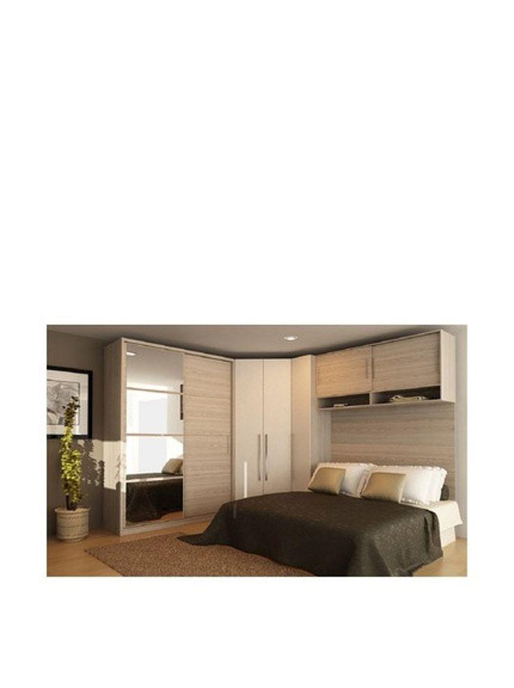 Manhattan Comfort Bellevue 1- Door, Hanging Closet With 2 Cubbies