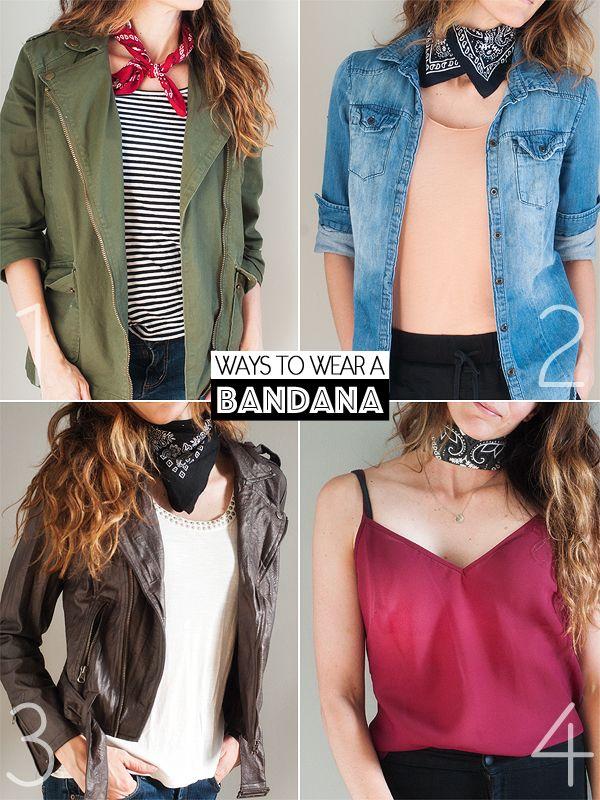ways to wear a bandana around the neck