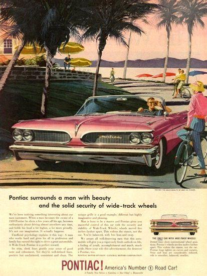 Pontiac Automobile Americas No 1 Road Car Pink - Mad Men Art: The 1891-1970 Vintage Advertisement Art Collection