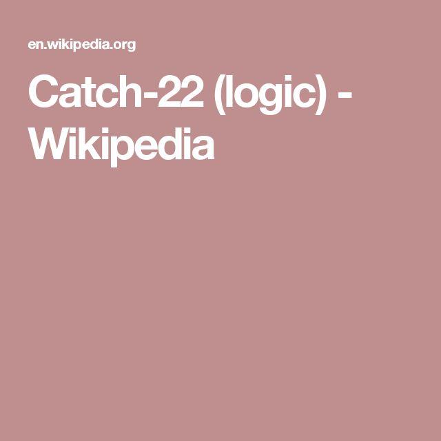 Catch-22 (logic) - Wikipedia