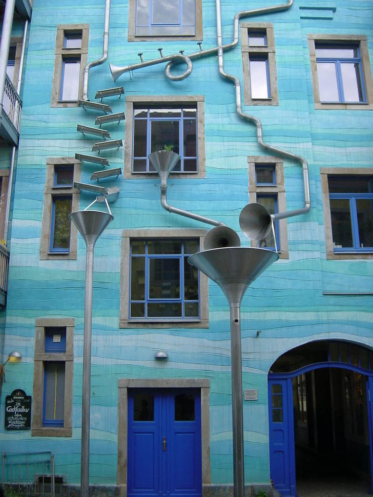 How to be excited about rain; build THIS.: Farms Collection, Dresden Germany, Architects, Building, Metals Tube, Rube Goldberg, Kunsthofpassag, Finding Kunsthof Passage, Courtyards