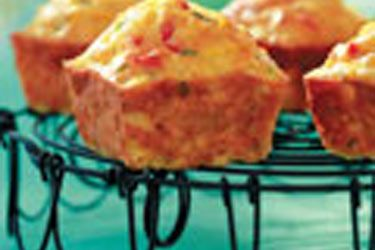 Sweet corn and chive muffins
