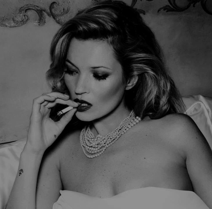 Kate Moss - this girl doesn't smoke to look cool. She is cool. She smokes because she wants to smoke. http://chloethurlow.com/2014/06/smoke-signals/