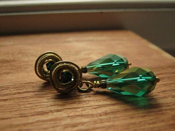 edwardian earring drop earring dangle earring by HouseofAquila