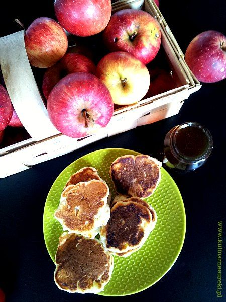 Bezglutenowe amerykańskie naleśniki z jabłkami