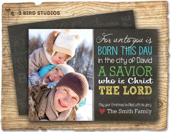 Christmas card  bible verse Luke 2:11  bible by 2birdstudios