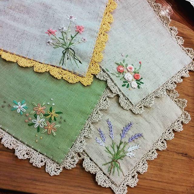 #Embroidery#stitch#needlework#Race Tea Coaster  #프랑스자수#일산프랑스자수#자수 #레이스 티 코스터 #티타임이 기다려진다~~