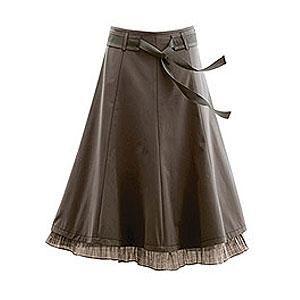 falda-jean brown
