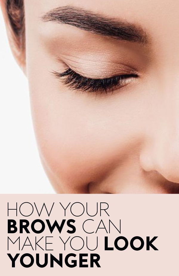 There's some science behind the dramatic eyebrow trend after all. #AntiAgingBeauty #YoungerBrows #Eyebrows