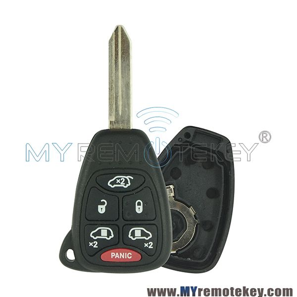 Remote Key Head Case 5 Button With Panic For Chrysler Dodge Jeep