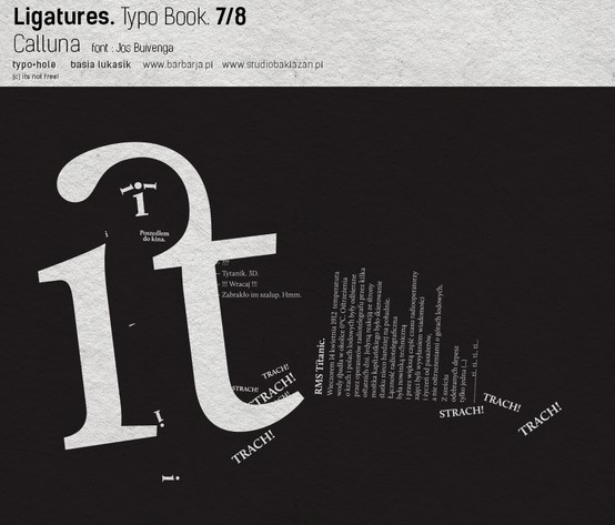 #Typography Book about Lodz and Love @Jos Buivenga font called @Calluna | http://typohole.com http://www.studiobaklazan.pl