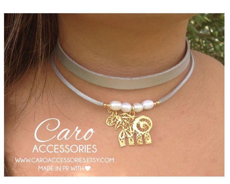 Collar choker doble. Choker de perlas. Choker by CaroAccessories