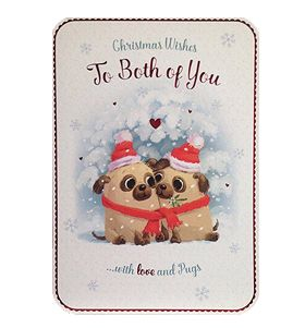 To the both of you Pug Christmas card at www.ilovepugs.co.uk  post worldwide