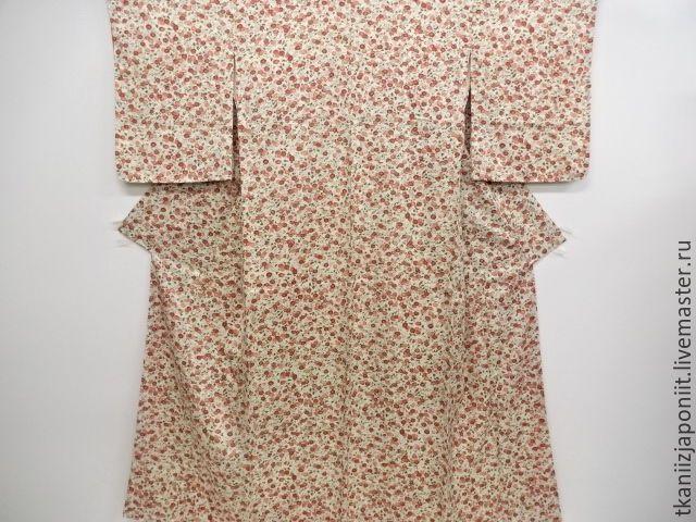 """Купить Японское кимоно """"Мелкие хризантемки"""" - салатовый, кимоно, кимоно купить, японское кимоно"""