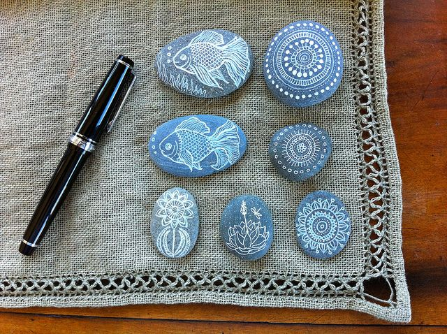 Painted Pebbles by MagaMerlina, via Flickr
