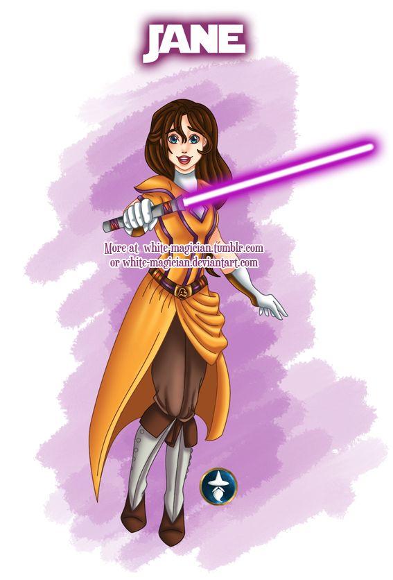 Jedi Disney Lady Jane Porter by White-Magician.deviantart.com on @deviantART - Seventeenth in a series showing Disney girls as Jedi