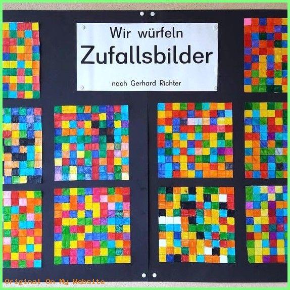 """Kunst Grundschule – ⚠️ Werbung unbezahlt """"ZUFALLSBILDER"""" nach Gerhard Richter Dieses Bild…"""