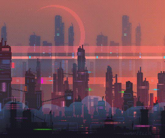 57 Best Pixel Art City Images On Pinterest