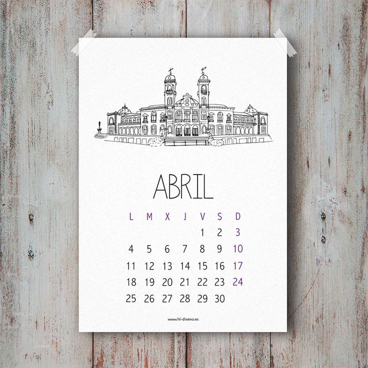 Calendario Abril 2016 descargable gratis