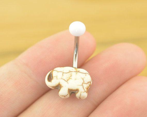 Nombril bijoux éléphant bellyring turquoise nombril piercing, anneau de ventre éléphant