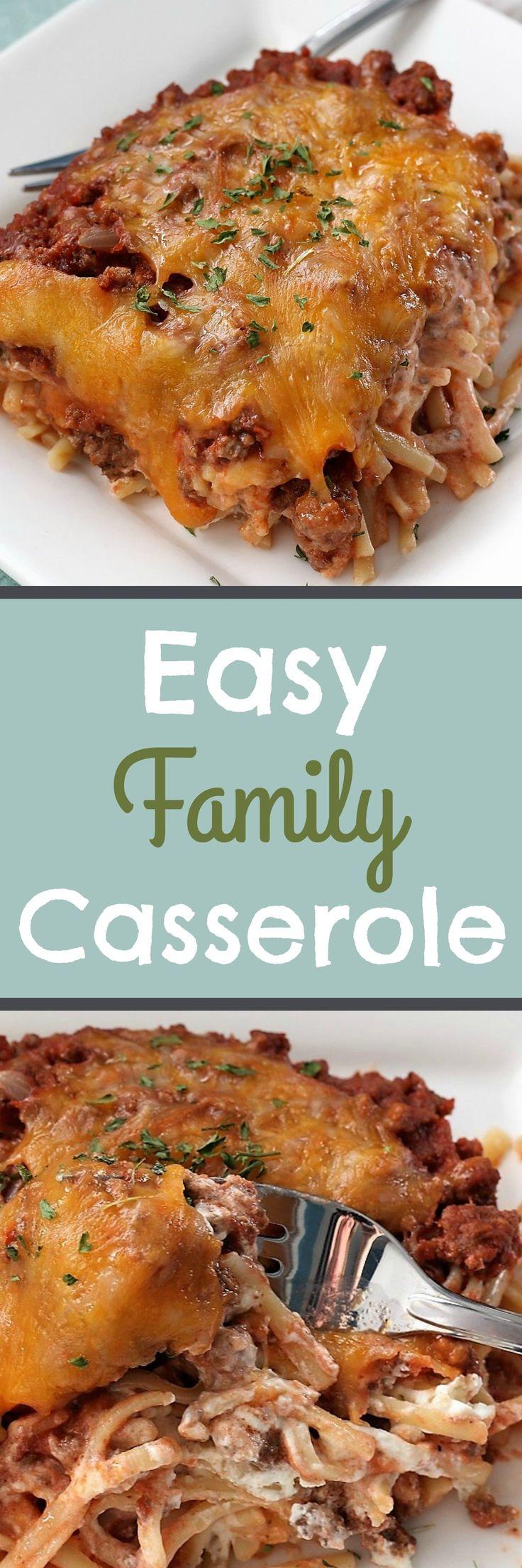 Easy Family Casserole , Recipe Treasures Blog