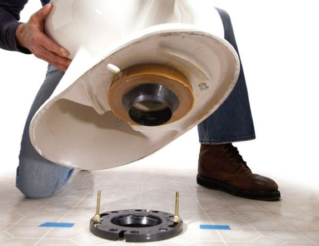 How to Replace a Toilet - Flange
