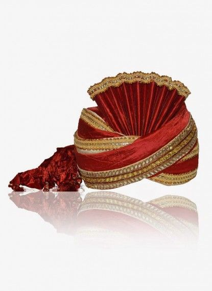 Carnelian Red Rawsilk Turban
