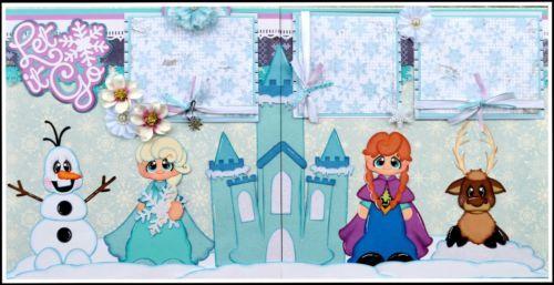 ELITE4U Premade Scrapbook Page Frozen Disney Layout Paper Piecing | eBay