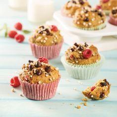 Muffins au quinoa, framboises et pépites de chocolat - Recettes - Cuisine et nutrition - Pratico Pratique