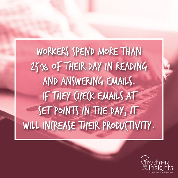 For most people, they check their emails three times daily –  first thing in the morning; around midday; and towards the end of your workday – is more than enough.  #Albury #Wodonga #Launceston #BondUniversity #Bonogin #Boyland #Broadbeach #BroadbeachWaters #Thursdate #FunFact #Trivia #Didyouknow