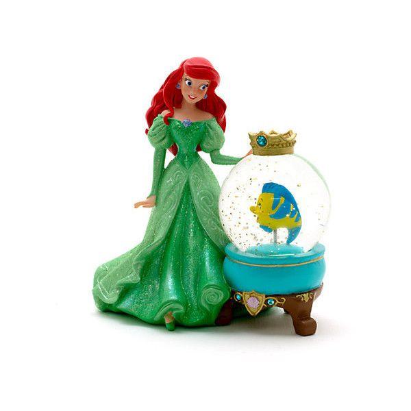 Ariel Snow Globe, Disneyland Paris ($27) ❤ liked on Polyvore featuring home, home decor, paris snowglobe, princess snow globe, paris snow globe, glitter snow globe and parisian home decor