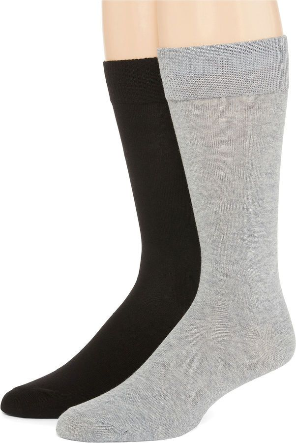 COLLECTION Collection by Michael Strahan 2-pk. Crew Socks - Big & Tall