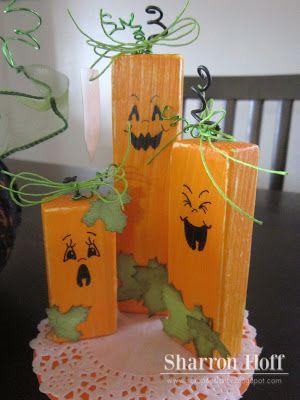 Pumpkin Patch wood blocks it's the faces!
