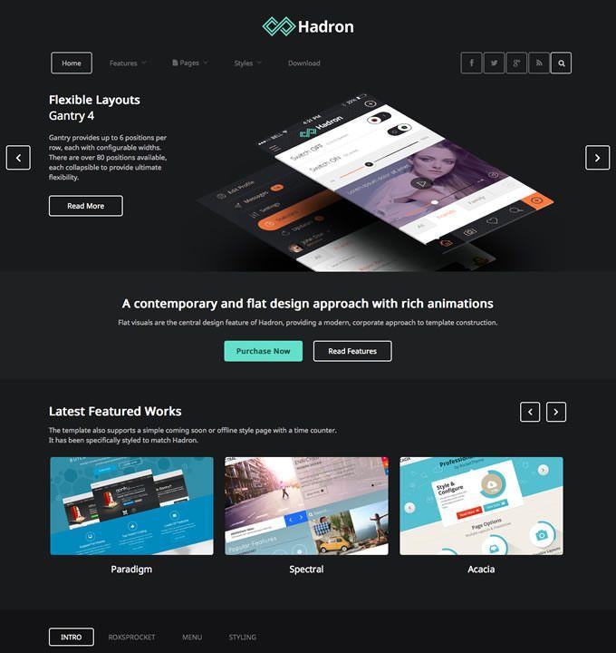 #RocketTheme - #JoomlaTemplates - Hadron
