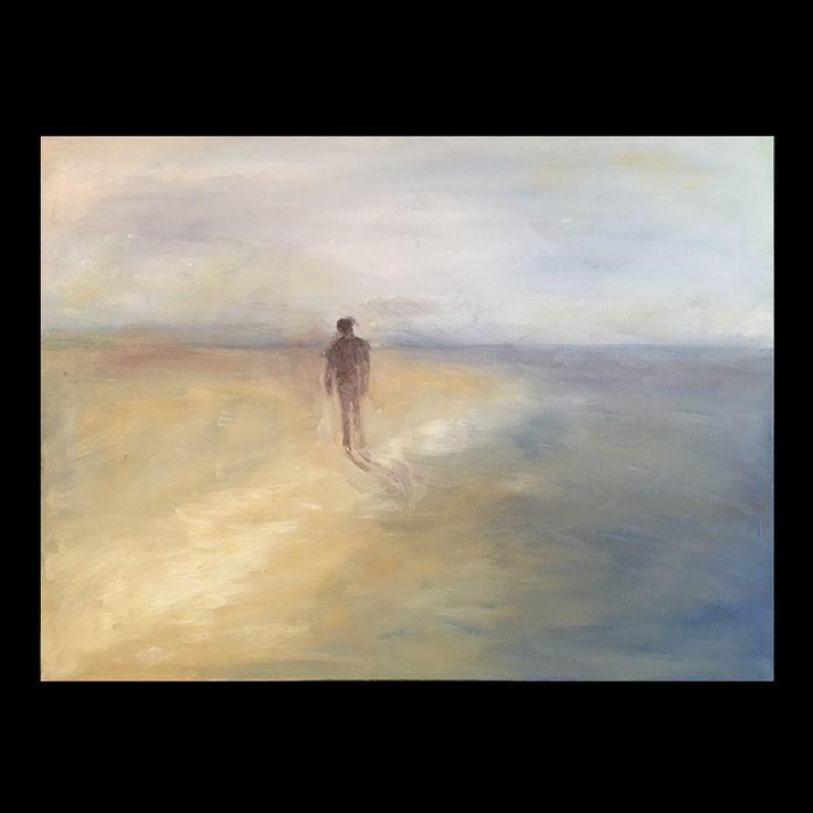 On the beach – oil on canvas