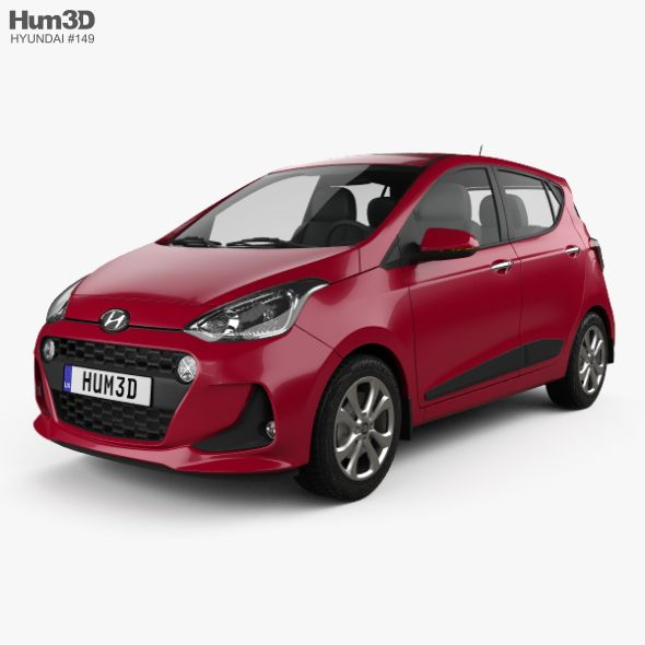 Hyundai I10 2017 Hyundai 3d Model Car 3d Model
