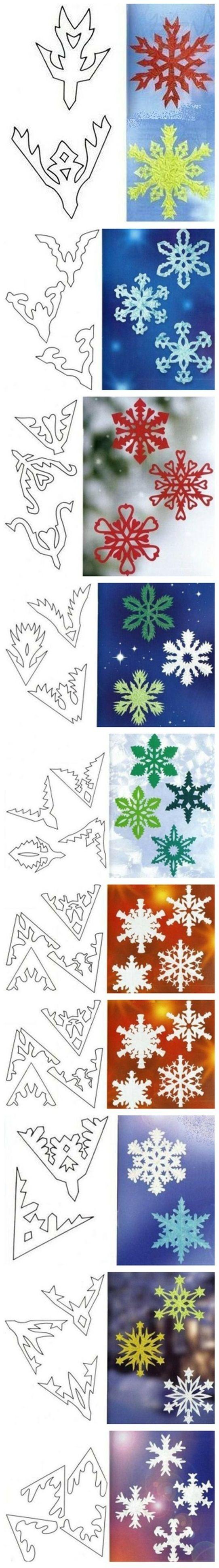 Snowflake Cutout Patterns
