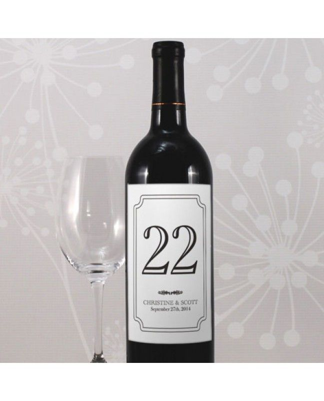 Wine Label Table Numbers www.mybridalsupply.com