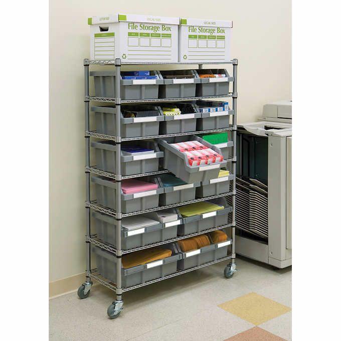 Vancouver Classics – 7 Shelf Commercial Bin Rack