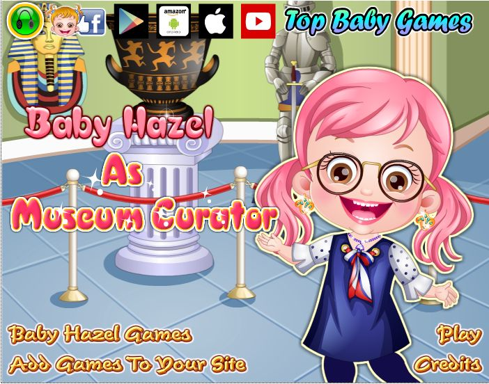 Dress up Baby Hazel for an exciting new profession http://www.topbabygames.com/baby-hazel-as-museum-curator.html