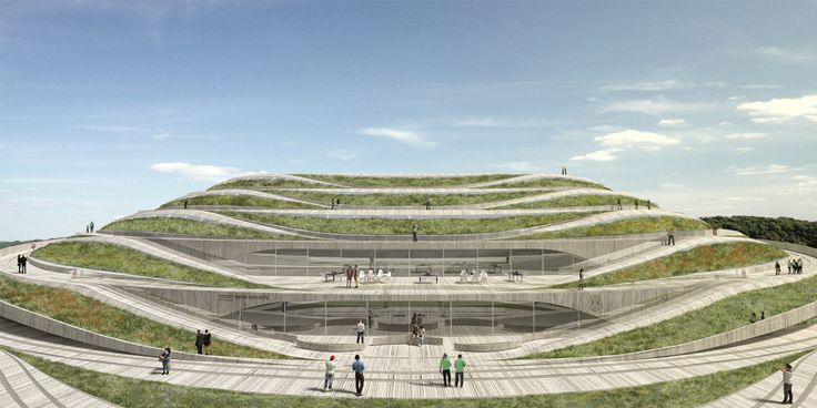 Our design for the new Forest Green Rovers Stadium is inspired by the landscape of the Stroud Valleys, in particular the Neolithic burial mounds and Iron Age hill forts that can be found in the area.