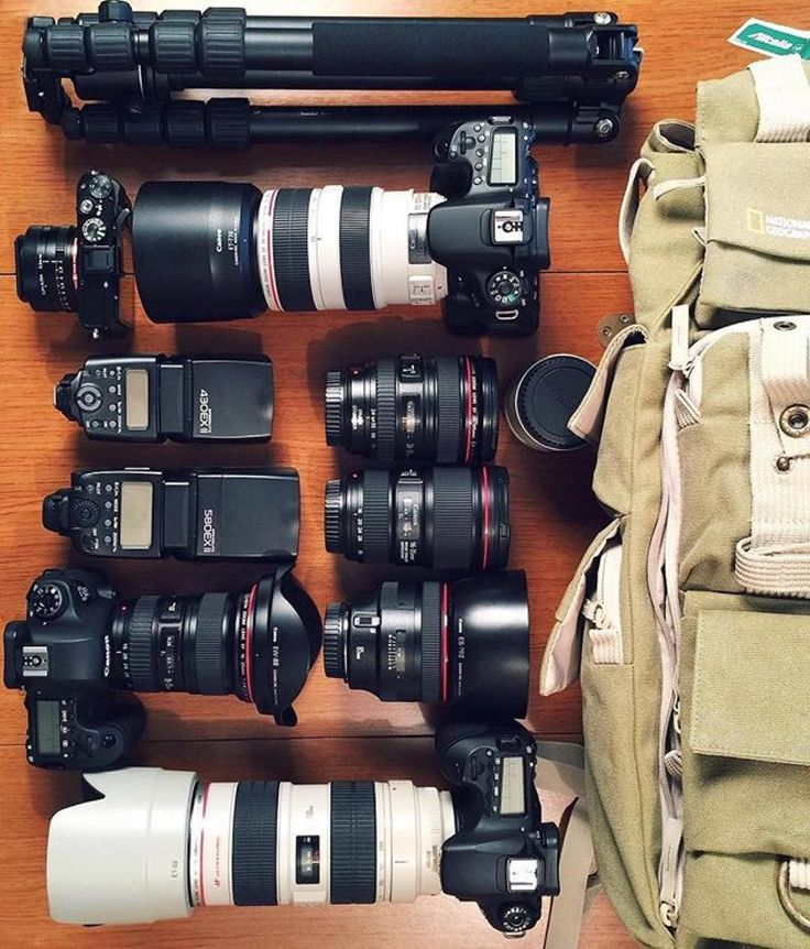 What your travel essentials looks like if you're a photographer  Photo by @thephotogear insta awesomeness Tag a photographer  #camera #gear #canon #dslr #cameras #canoneos #canonphotography #flatlay #canon6d #canon70d #photoshooting #photographyislife