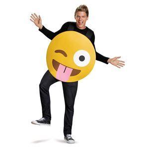 Tongue Out Emoji Adult Unisex Costume - 354587 | trendyhalloween.com #menscostumes