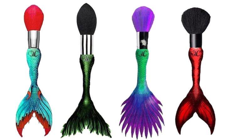 Brochas de maquillaje en forma de colas de sirena
