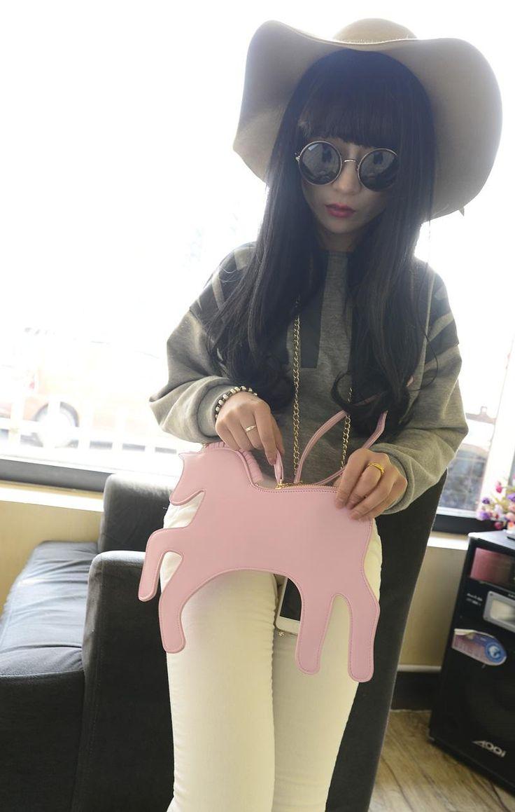 Bolsa Unicornio rosa, ideal para el toque original en tu outfit de día. #Unicornio #Rosa #Bolsa #Outfit #Moda #Regalo #Mexico