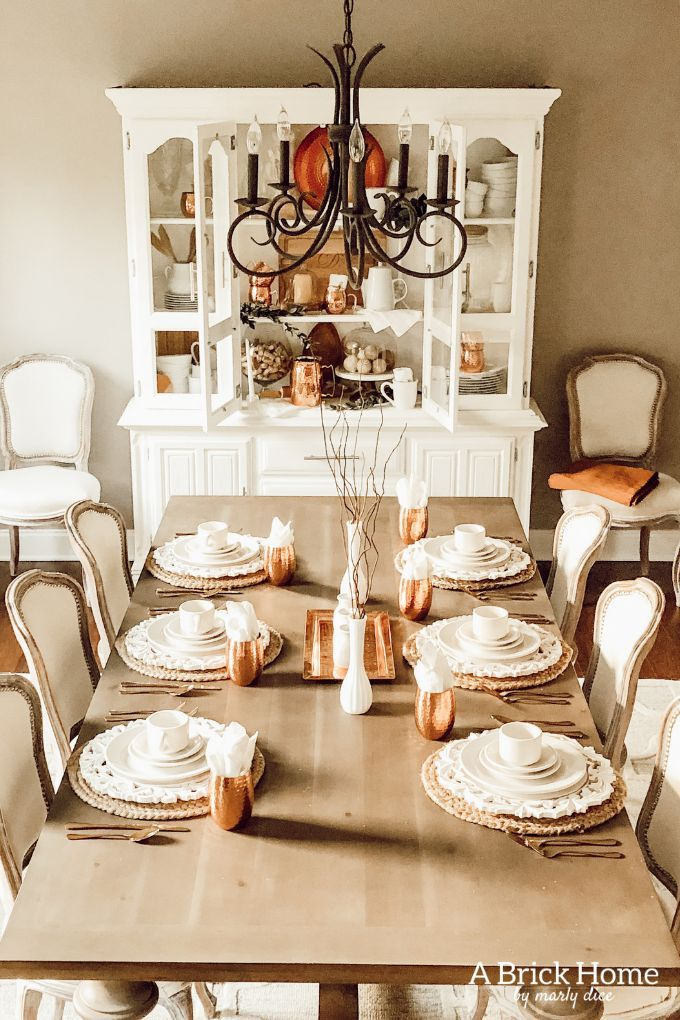 Copper Decor Accents In My Dining Room Marly Dice Copper Decor Accents Copper Decor Home Decor Tips