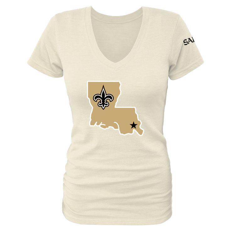 Women's New Orleans Saints Design Your Own V-Neck Tri-Blend T-Shirt