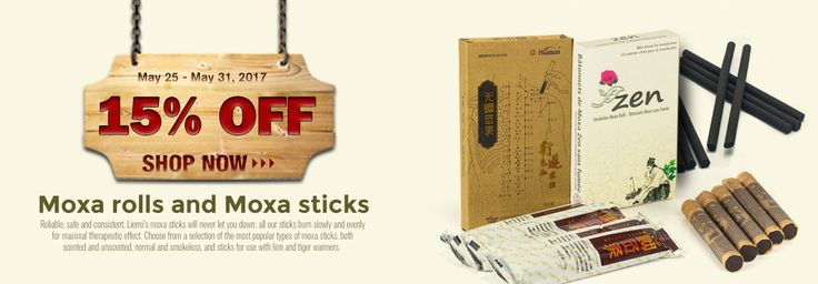 15% off on the realiable and constant moxa rolls and moxa sticks