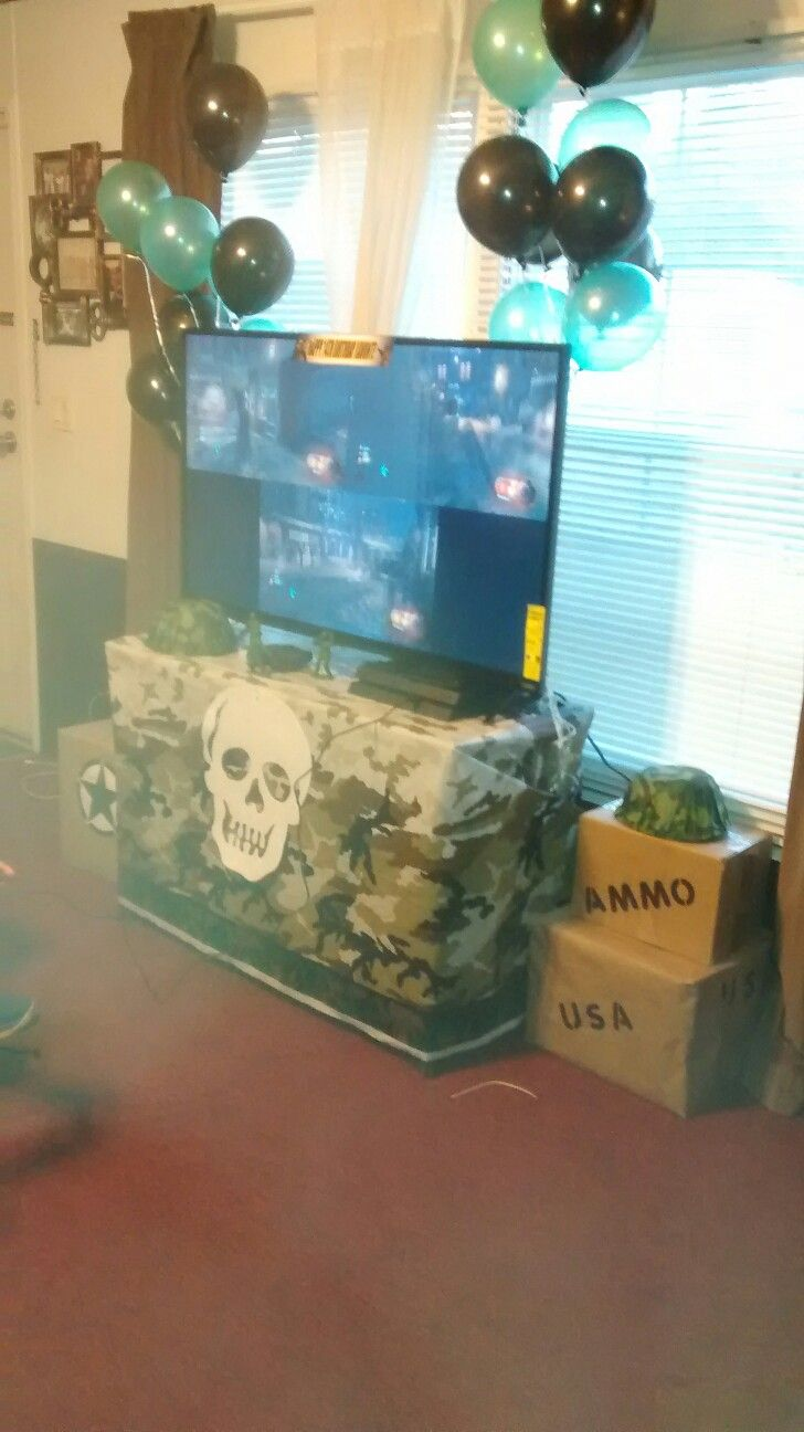 Best 25 army party decorations ideas on pinterest for Black ops 3 decorations