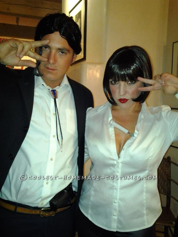 Cool Couples Costume: Mia Wallace and Vince Vega from Pulp Fiction... This website is the Pinterest of costumes
